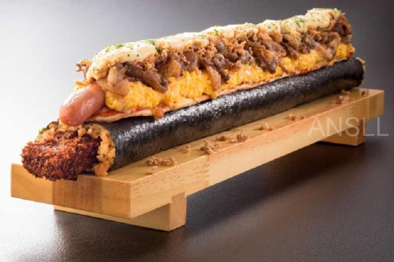 日本连锁餐厅推出6000大卡热量的限量版「魔鬼寿司」,堪称「能量炸弹」 !