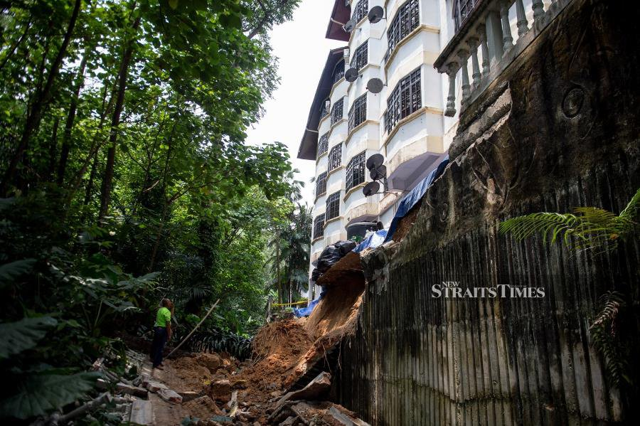 Broken drainage culverts likely cause of landslide
