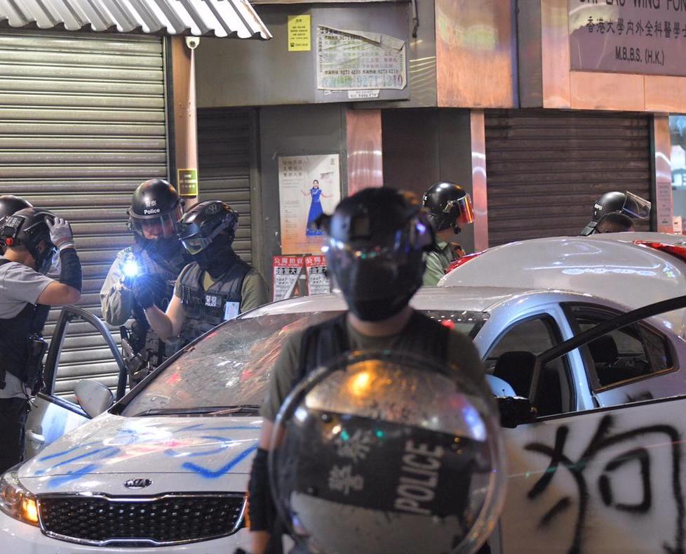 【修例风波】谴责鑑证科人员私家车被破坏 警:行为已构成刑事毁坏罪
