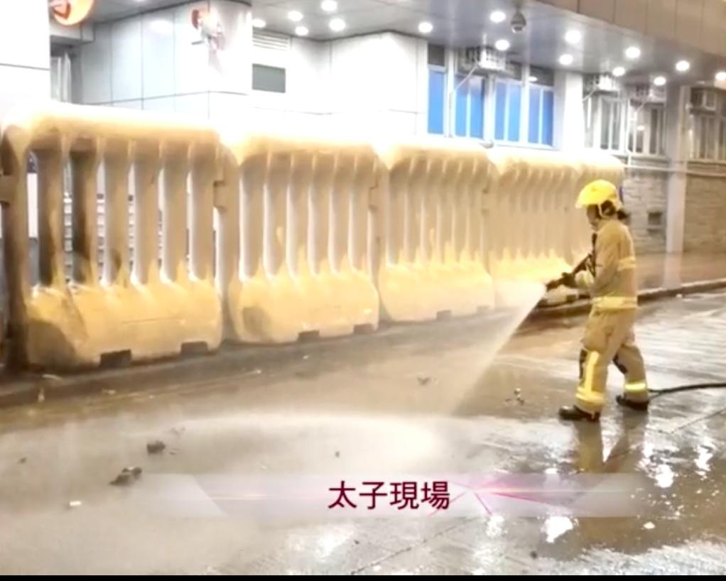 【修例风波】弥敦道曾传出爆炸声 示威者向旺角警署掷汽油弹
