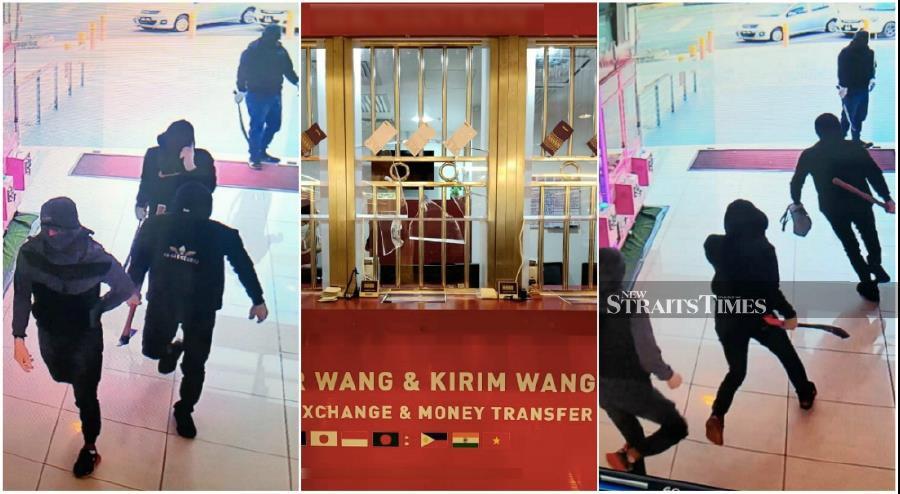 Axe-wielding men swipe RM50,000 from Port Dickson money changer