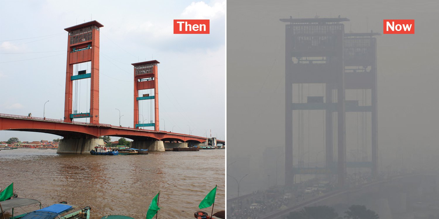 Indonesia's Palembang haze hits highest ever reading of 921, helicopters now carrying out water bombing