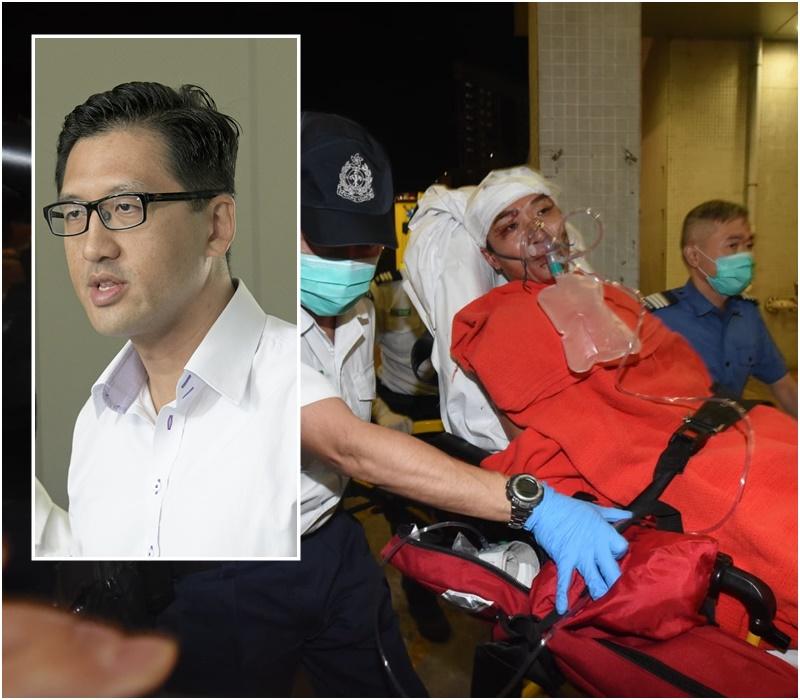 林卓廷谴责兇徒袭击岑子杰 批警方无力或无意保护民主派