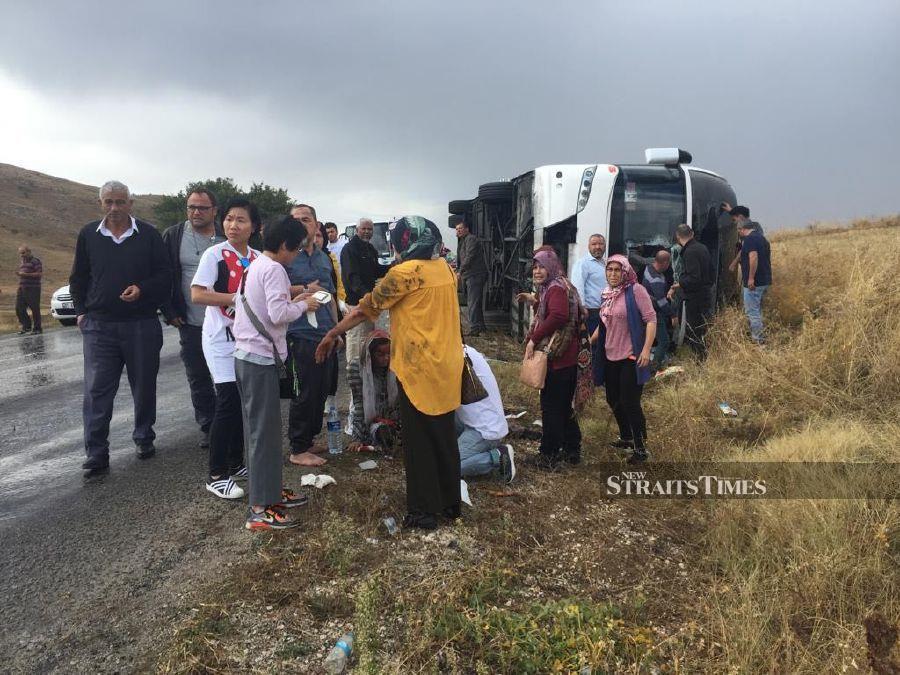 One Malaysian dead, 10 hurt in bus mishap in Turkey