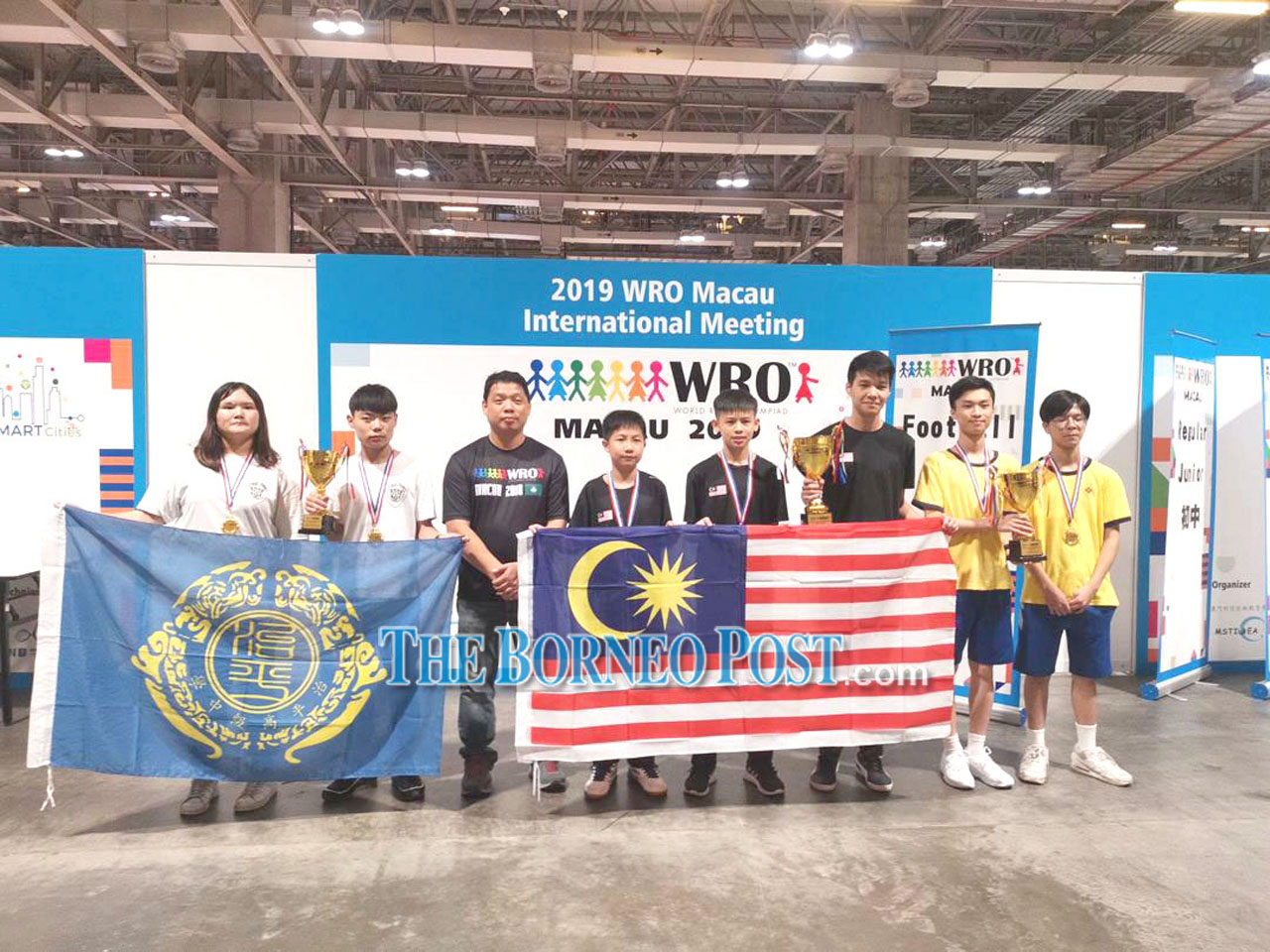 SMK Chung Hua Miri team champs at World Robot Olympiad 2019 in Macau