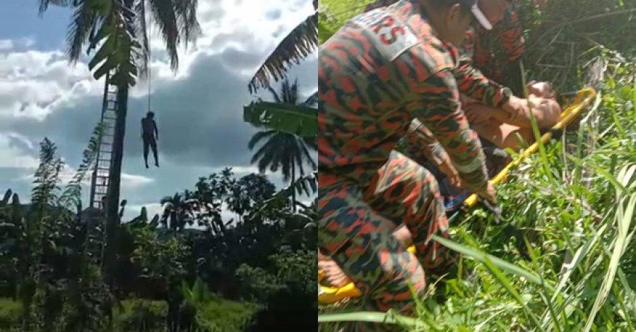男子忽然昏倒 卡在50尺椰树没掉下
