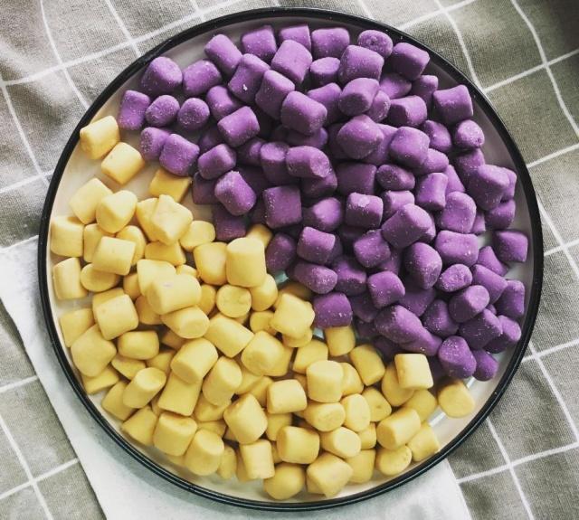 红薯和紫薯别再蒸着吃了,教你做成芋圆,清凉Q弹,夏日必备