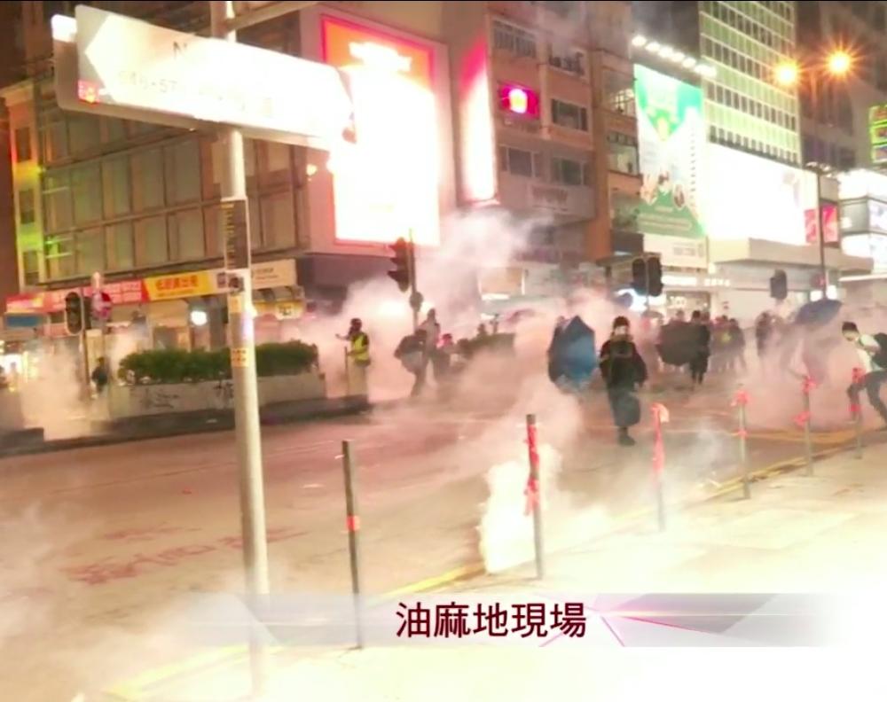 【修例风波】警旺角狂射催泪弹 示威者掷汽油弹还击