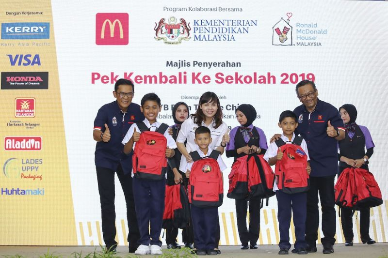 McDonald's Malaysia helps 30,000 primary schoolchildren with Back-to-School programme