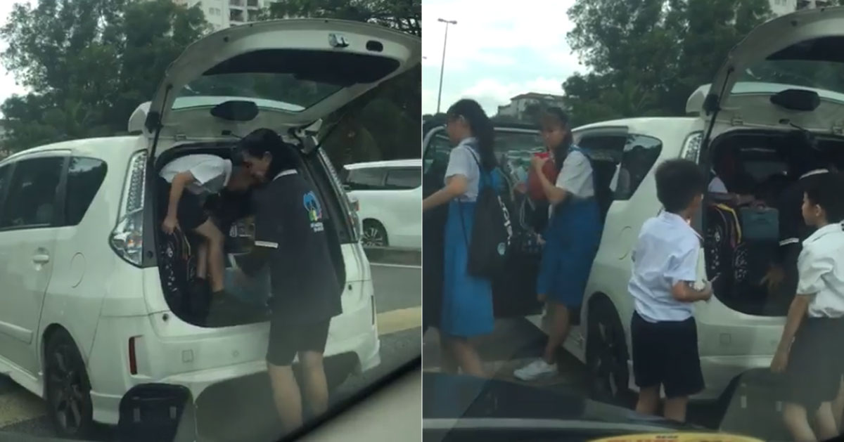 M'sian woman squeezes 10 or more school children into car because M'sia boleh
