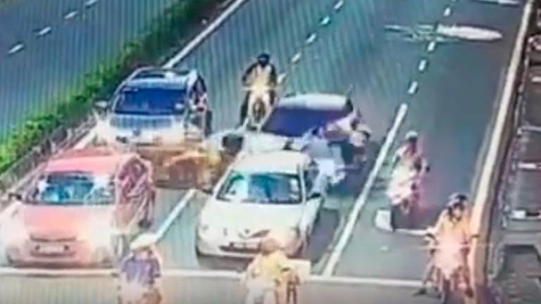 4-day remand for Chinese national who rammed into motorcyclist
