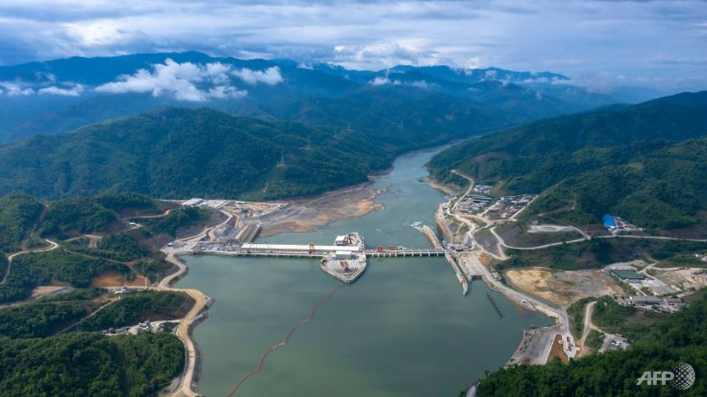 Laos hydro project switched on along dried-out Mekong