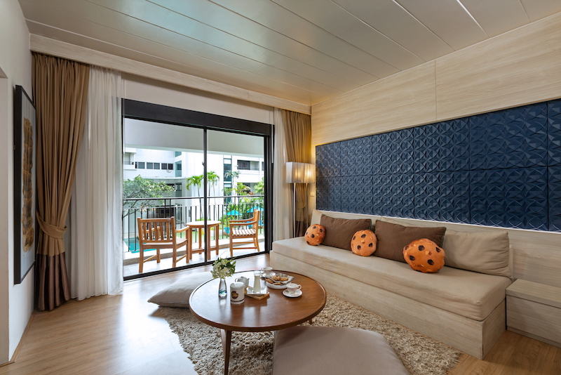 Crazy for Cookies: A taste of the Phuket cookie-themed suite decked out with fresh baked choco chip bar, dough-scented amenities