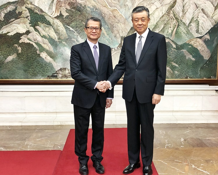 刘晓明晤陈茂波 指中央撑林郑依法施政