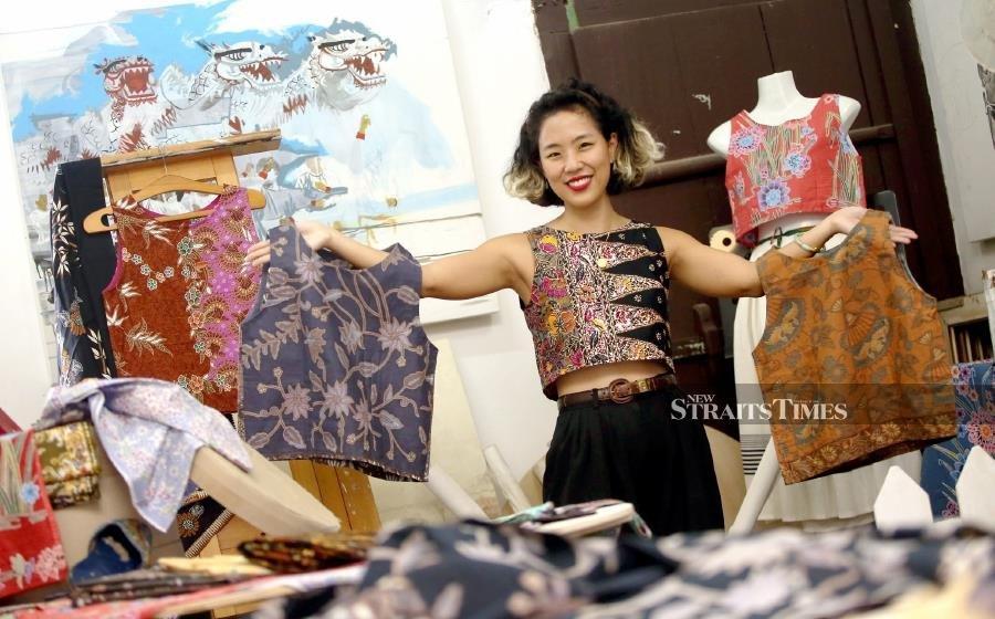 Trendy, edgy batik blouses