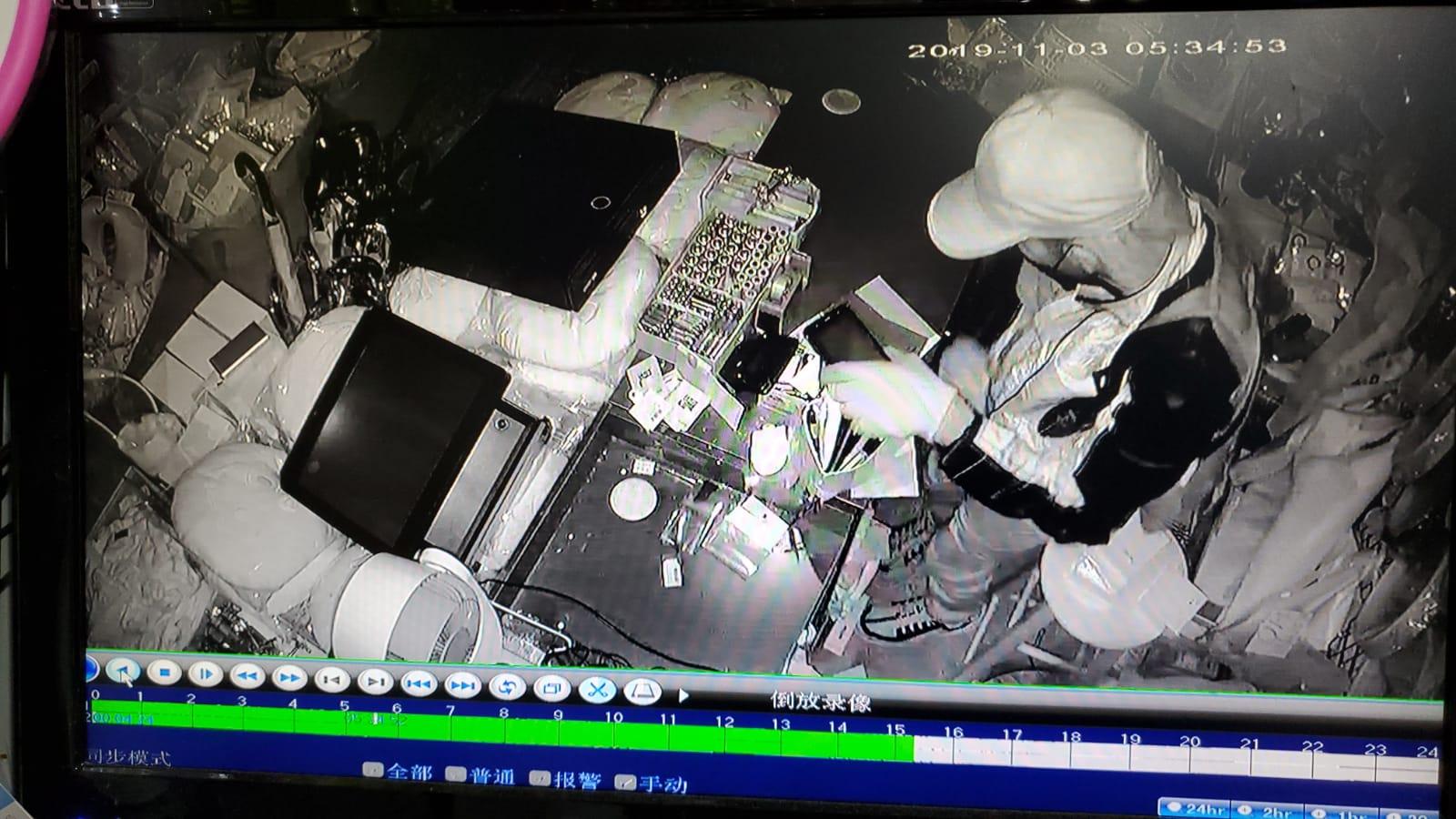花园街家品店失爆损失1万元 天眼全程直击搜掠过程