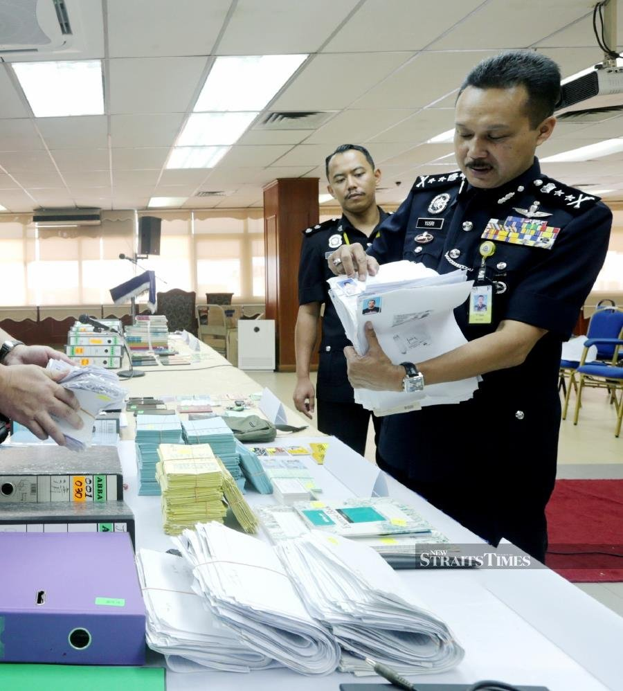 14 held for illegal money lending in Pahang, items worth RM1million seized