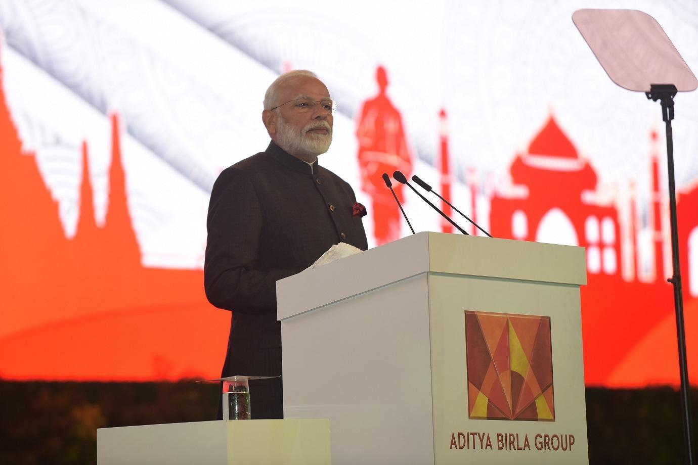 Aditya Birla celebrates 50th year with PM Modi