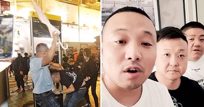 与港示威者冲突 3中国男被捧为英雄