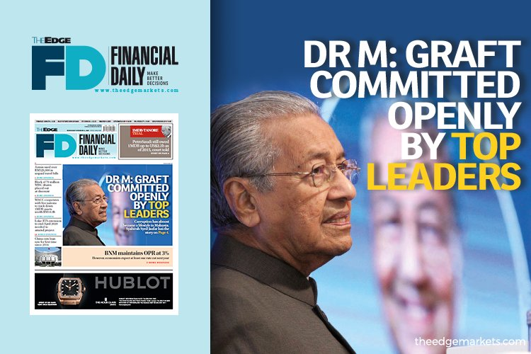 Dr M: Graft committed openly by top leaders