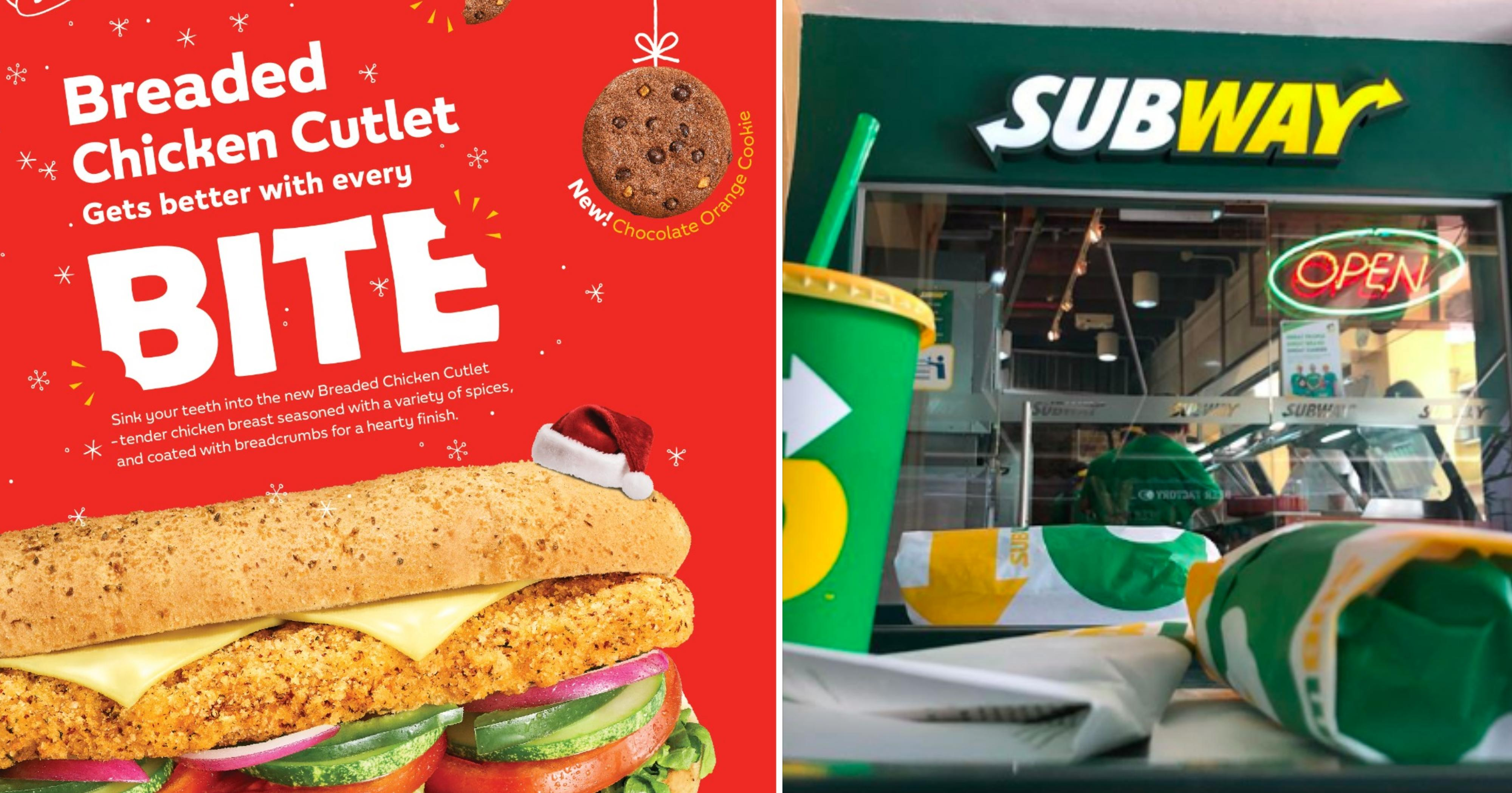 Subway launches breaded chicken cutlet sandwich from Nov. 6, 2019 – Jan. 7, 2020
