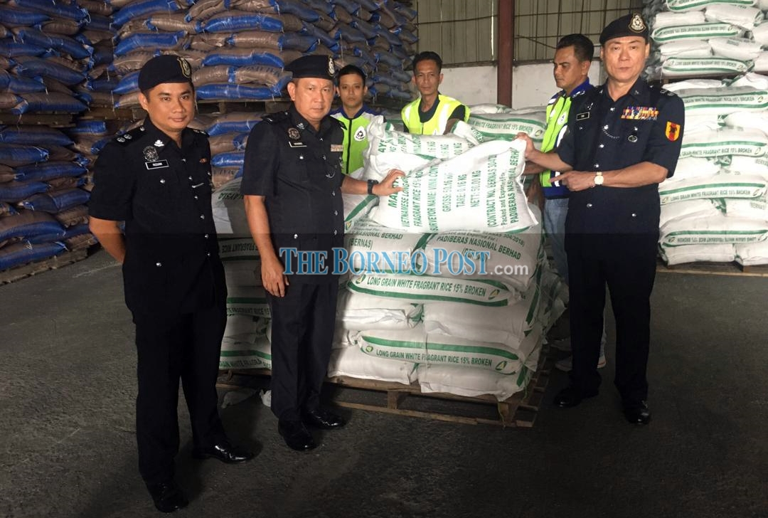 PGA seizes 352 tonnes of smuggled rice from warehouse in Miri