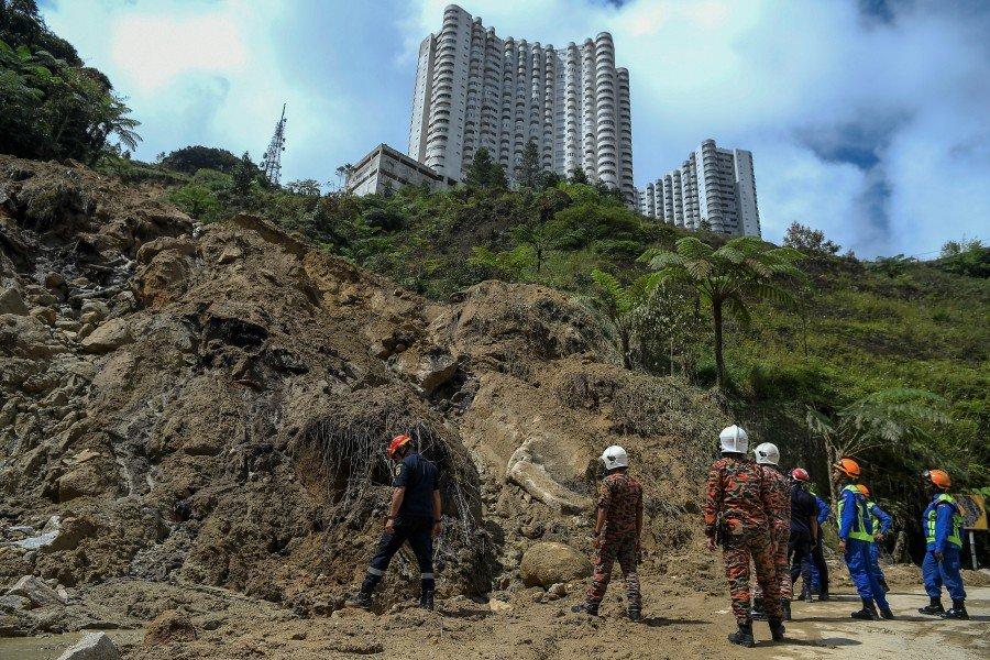 Main road to Genting Highlands not affected by landslide