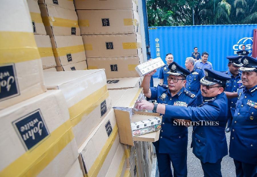 Customs destroys contraband liquor, cigarettes worth RM12.4m
