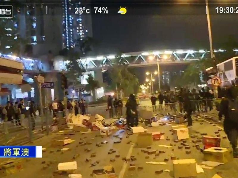 【大三罢】示威者傍晚将军澳一带堵路 交通受阻