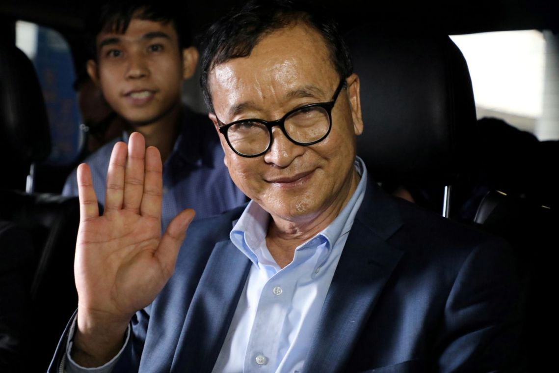 Cambodian opposition figure Sam Rainsy promises to intensify action