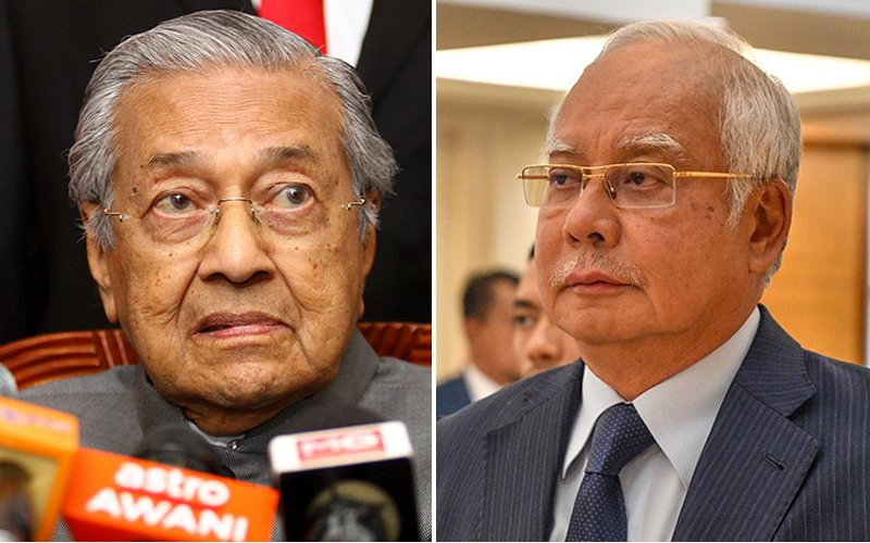 Mahathir 'shocked' that Najib is shocked by court decision