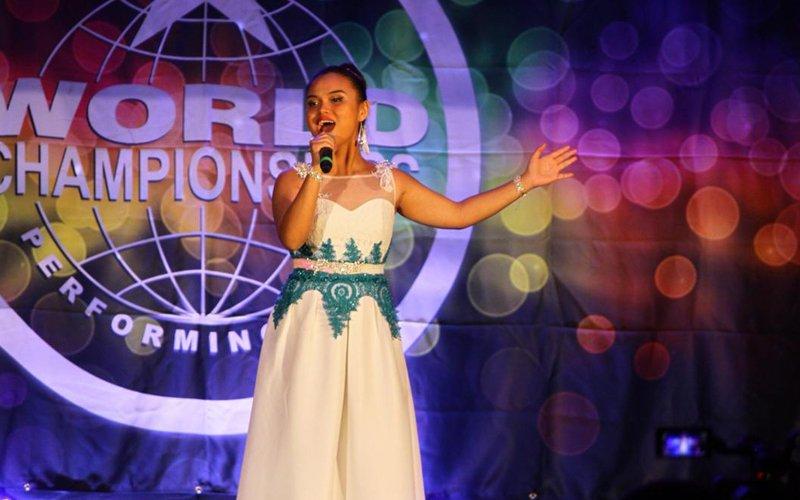 Champion singer tells of struggle behind her success
