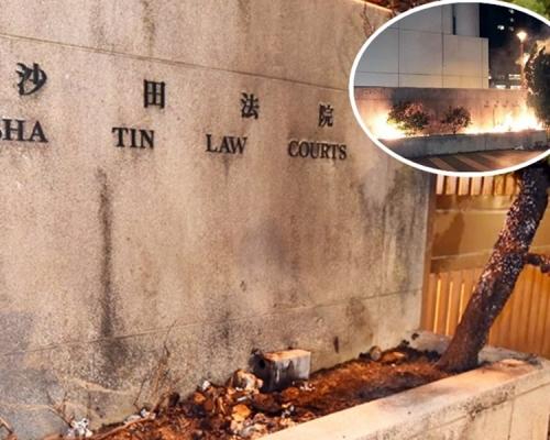 【大三罢】沙田法院外花槽疑遭纵火 香港律师会谴责
