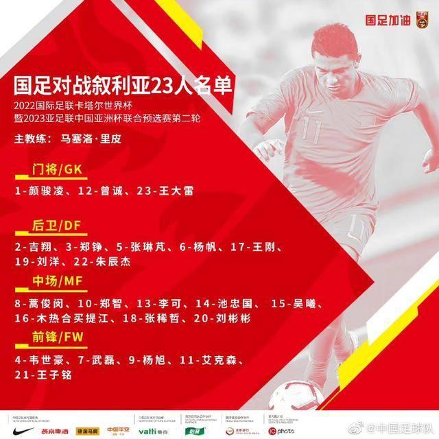 「剑指卡塔尔」国足赛前六小时更新23人大名单,张琳芃在列