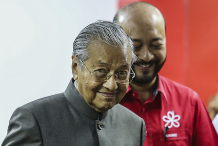 Pass vote of no confidence if you want, says Mahathir
