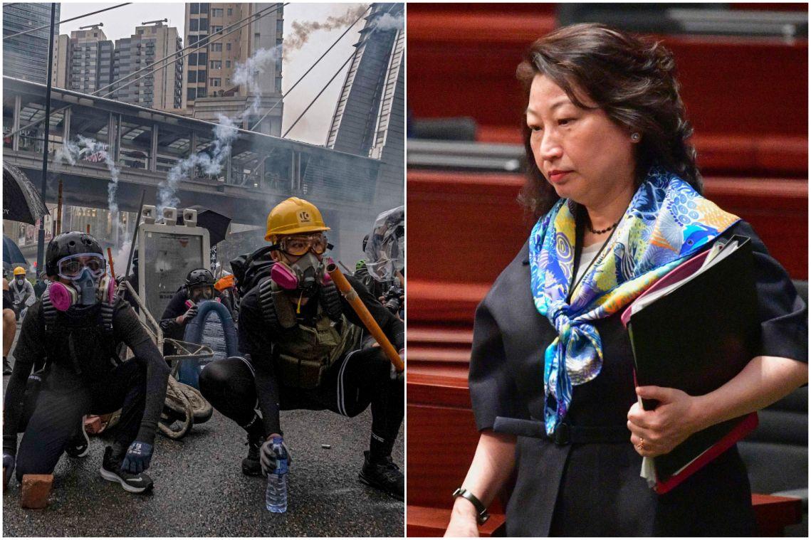 Hong Kong government condemns attack on Justice Secretary Teresa Cheng as protests paralyse city