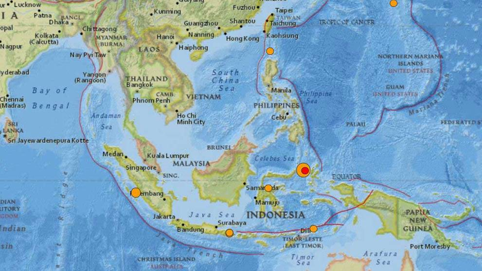 Strong 7.1-magnitude earthquake hits off Indonesia