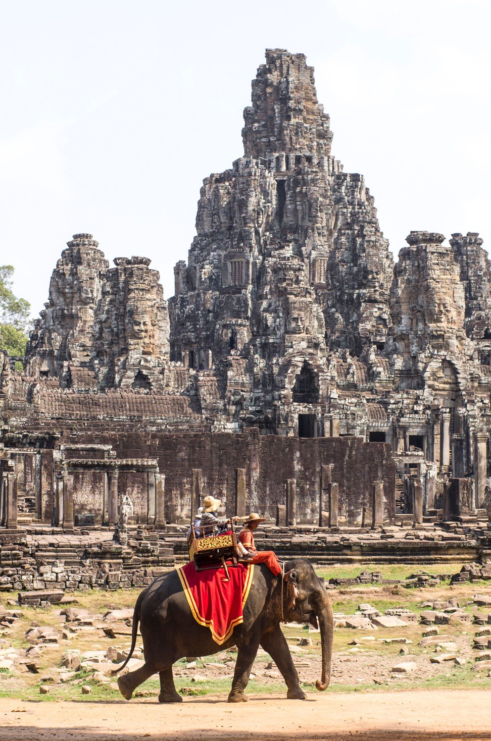Elephant rides for tourists at Cambodia's Angkor temple to end, with animals moved to new jungle home