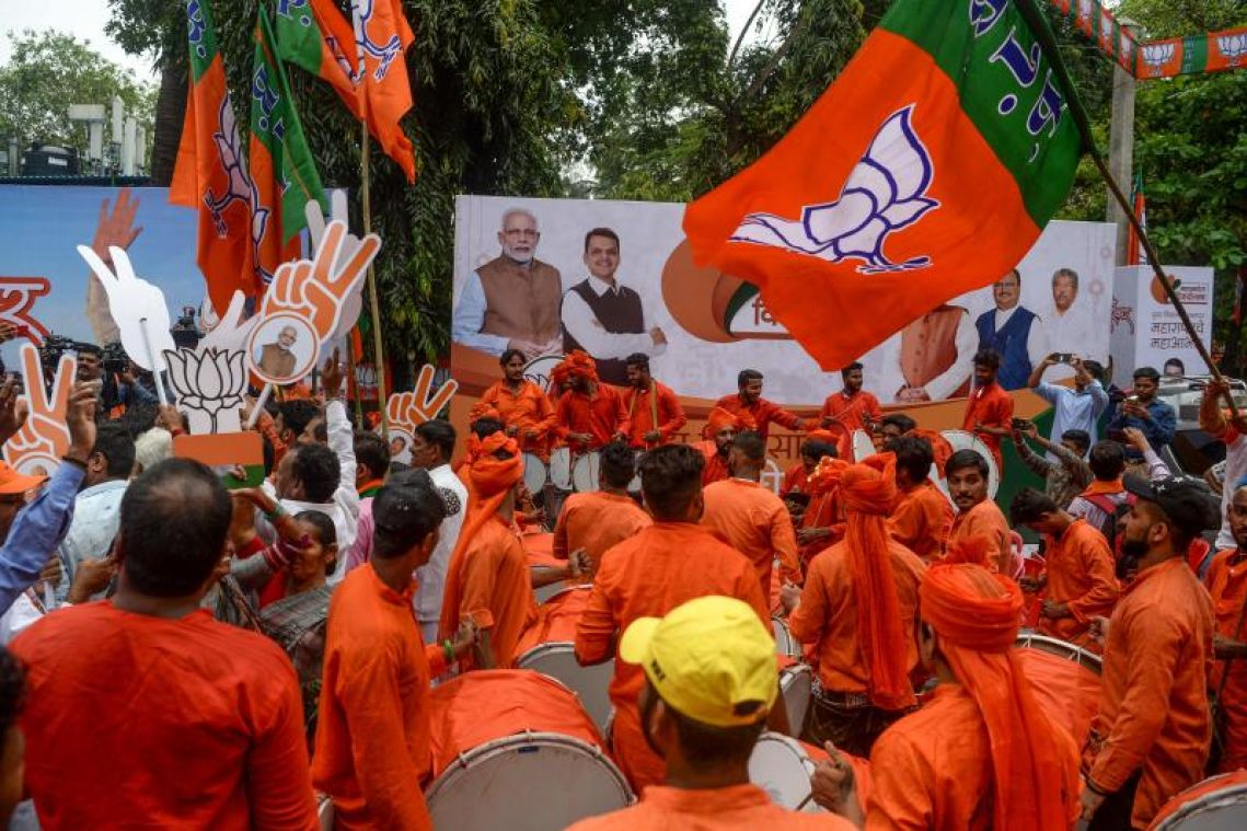Group linked to the BJP campaigns against Labour in the UK, prompting accusations of 'foreign interference'