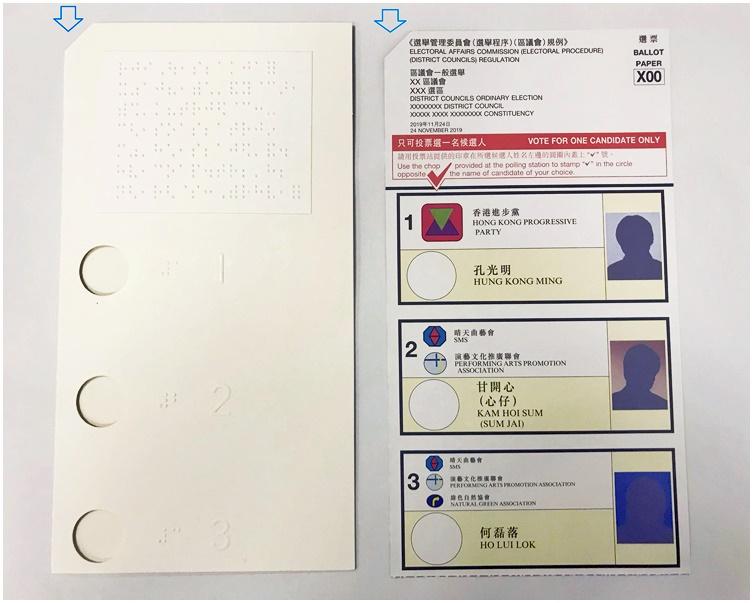 【区会选举】政府澄清选票切角为方便视障选民 并非撕烂