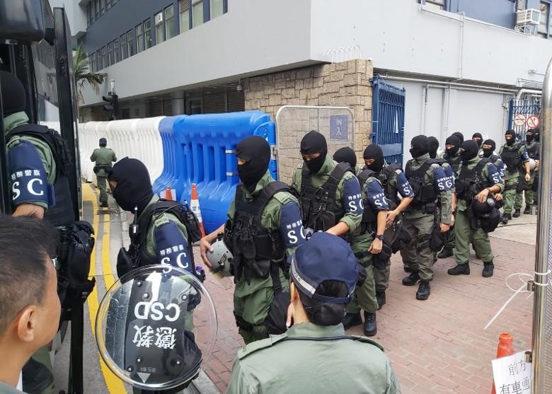 香港「惩教特警」首次现身!(图)