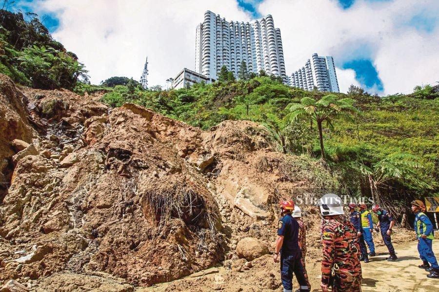 Poor drainage system to blame for Jalan Genting landslide