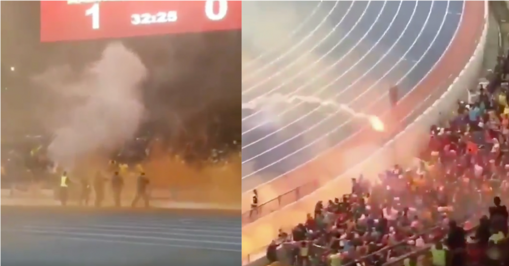 41 arrested after flares thrown, clashes between M'sian & Indonesian football fans