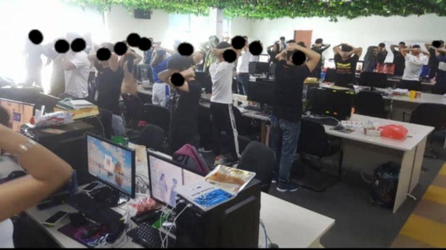 Watch: Immigration raids largest online scam HQ in Cyberjaya; 1,000 arrested