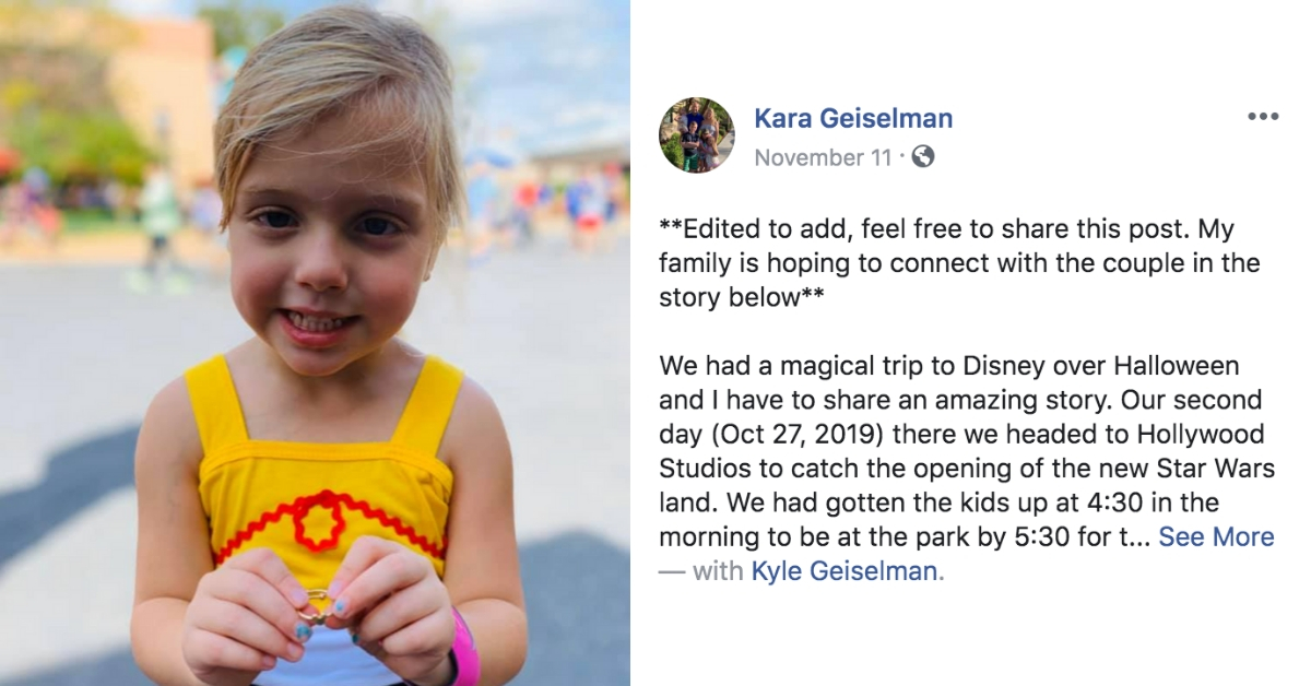 Massachusetts Family Searching For Grieving Couple Who Gave Their Daughter Gold Ring At Disney World