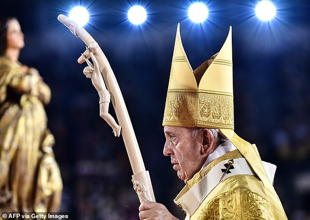 Pope Francis urges worshippers to respect prostitutes and trafficking victims as he leads 60,000 Catholics in prayer during visit to Thailand