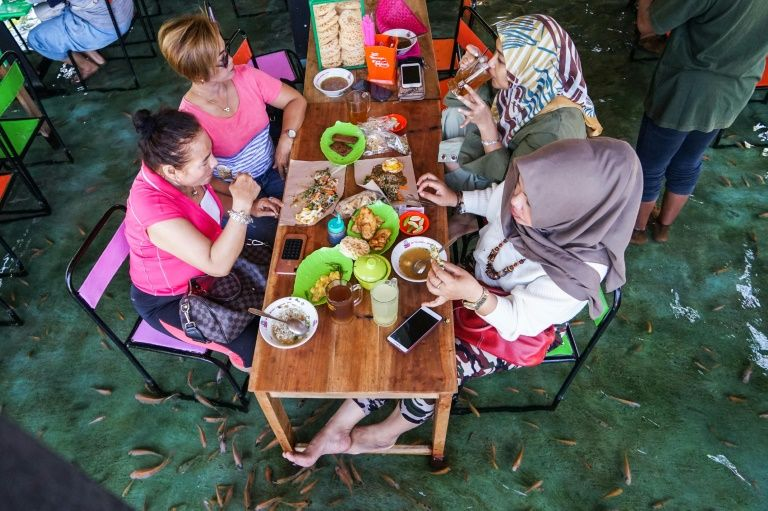 Foot fetish: nibbles a specialty at Indonesian restaurant