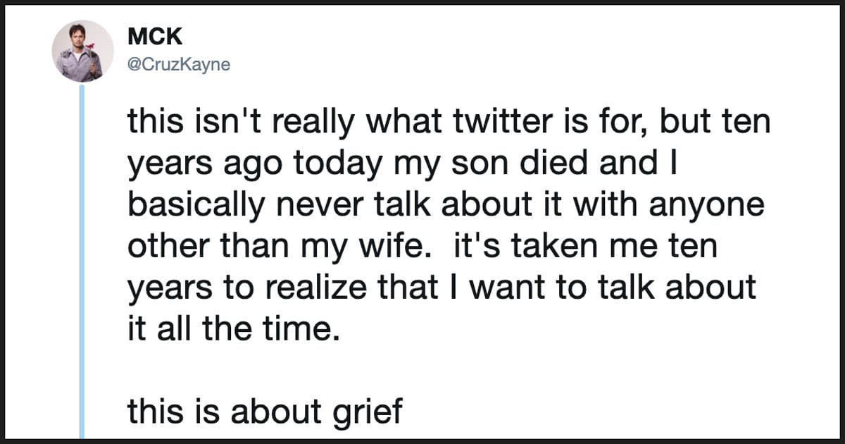 Dad Writes Empowering Thread On Learning To Talk About His Son's Death