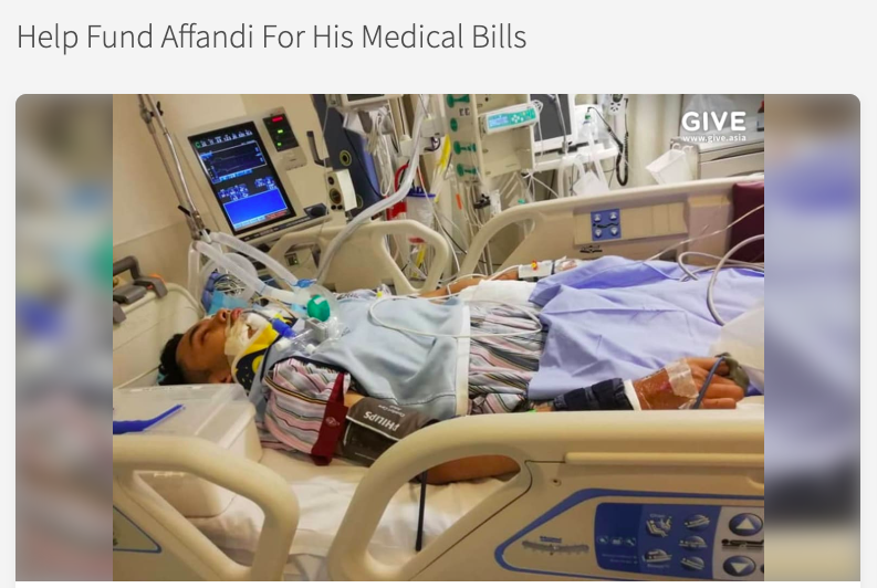 Crowdfunding raises S$50,000 for Malaysian in a coma after motorbike accident on SLE