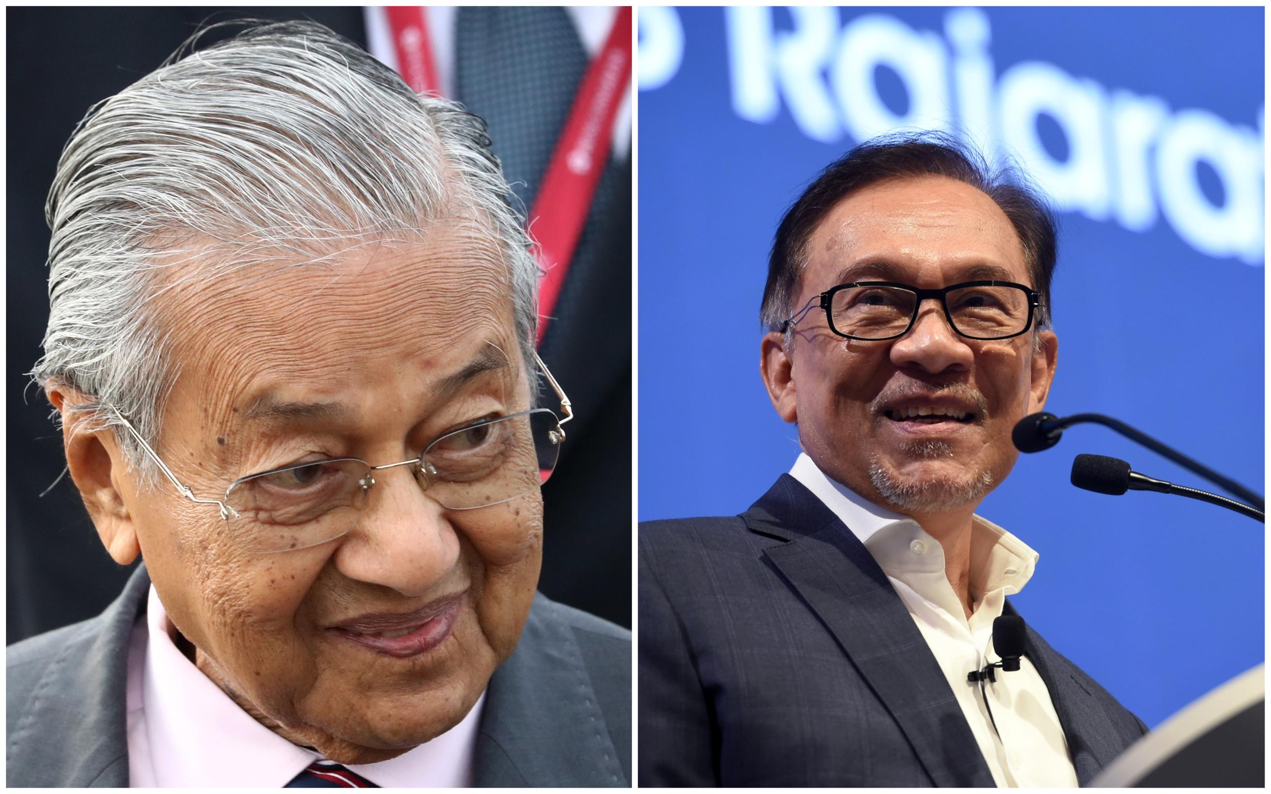马哈迪:邀请人民公正党主席安华入阁